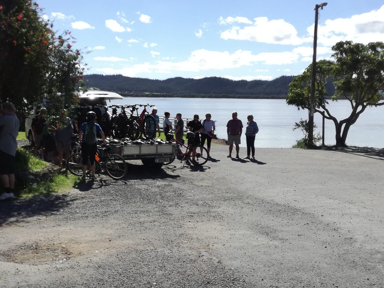 Incoming Cyclists at Horeke Hotel